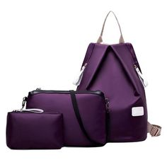 3pcs/set Oxford Shoulder Bag & Backpack