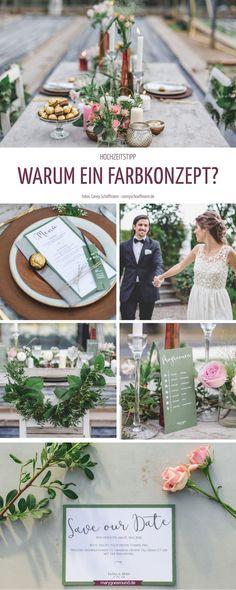 Warum es so wichtig ist, die Wahl eines Farbkonzepts für die Hochzeit zu treffen! Erfahre hier, wie ihr euer perfektes Farbkonzept findet - egal, ob ihr eine Hochzeit mit oder ohne Hochzeitsmotto plant!