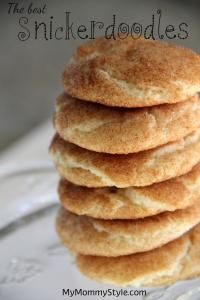 The BEST Snickerdoodles are so easy to make and kids love them!