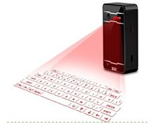 UK Gifts for Geeks - YY Laser projection virtual wireless Bluetooth keyboard mobile phone tablet computer mouse stereo infrared projection , black. It is an Amazon affiliate link.