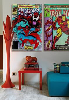 Love the Marvel Comic prints. Little guys, (and some old guys), would love having these in their room!