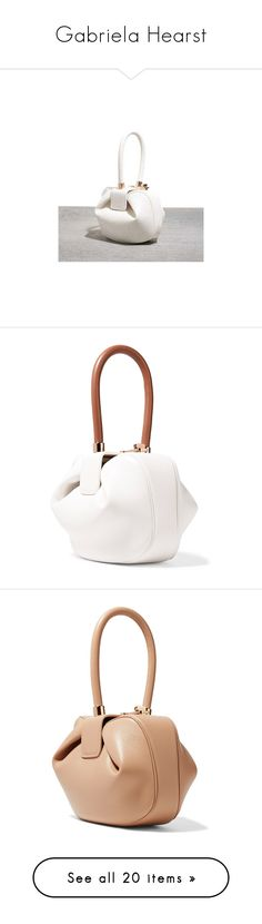 """Gabriela Hearst"" by yeahstella ❤ liked on Polyvore featuring bags, handbags, handbag purse, white purse, handbags bags, man bag, white bag, tote bags, gabriela hearst and ivory"