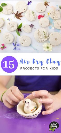 15 Amazing Air Dry Clay Projects for Kids We love Crayola Air Dry Clay, and have used it for years! Here's our top 15 air dry clay art project ideas for kids at home right now. via @TheArtfulParent<br> We love Crayola Air Dry Clay, and have used it for years! Here's our top 15 air dry clay art project ideas for kids at home right now. Clay Projects For Kids, Spring Art Projects, Preschool Projects, New Year's Crafts, Crafts For Kids, Kids Diy, Clay Crafts, Spring Arts And Crafts, Summer Crafts