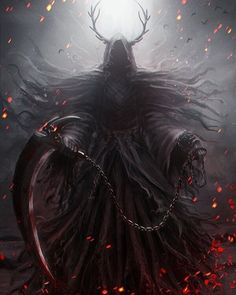 """Not typically into art like this but I would be lying if I said this wasn't badass. What do you guys think? ~Dragonbane. • • """"Reaper"""" Artwork by Wrestling. • • #Fantasy #Death #DigitalArt #Reaper #ConceptArt #Fanart #Artstation"""