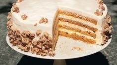 Four-Layer Pumpkin Cake with Orange-Cream Cheese Frosting- Yummly