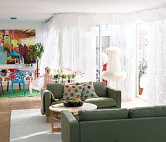 IKEA Österreich, Inspiration, Wohnzimmer, Sitzecke, Grün, Sofa KARLSTAD,  Kissenbezug IKEA