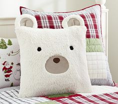 How cute for a child's room — Sherpa Bear Sham | Pottery Barn Kids