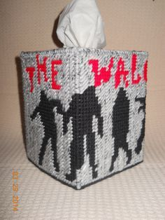 The Walking Dead Tissue Box Cover in Plastic canvas
