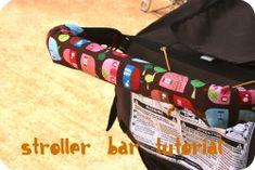 one shabby chick: Stroller Bar Cover tutorial