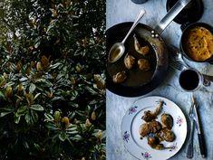 Quails with foie gras and armagnac sauce & Pumpkin, Jerusalem artichoke and potato mash | Manger