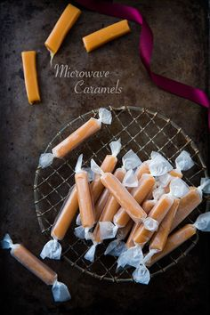 Microwave Caramels and a GIVEAWAY! - these caramels are AMAZING and they are made in the microwave in 7 MINUTES! Caramels don't get any easier than this!