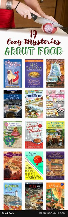 19 cozy mystery books about food, including reads from Joanne Fluke and M. C. Beaton.