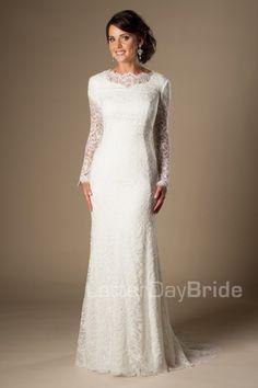 Fresh modest wedding dress tyrion front