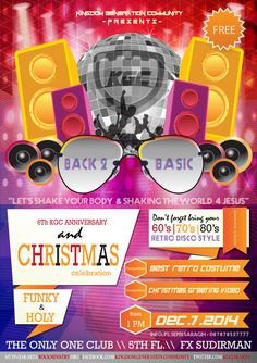 We are Back 2 Basic KGCJakarta Anniversary & Christmas Celebration.