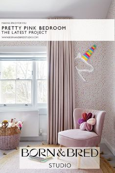 The latest project from Born & Bred Studio, London. Interior Design Inspiration, Color Inspiration, Pink Bedroom For Girls, Making Space, Interior Design Companies, Happenings, Little People, Pretty In Pink, Playroom