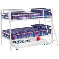 Buy Kenny White Shorty Bunk Bed Frame & Storage at Argos.co.uk - Your Online Shop for Children's beds.