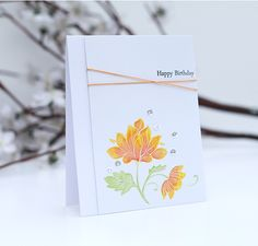 Such a Pretty card by Caryn for the Simon Says Stamp Wednesday challenge (Use Watercolors) October 2014