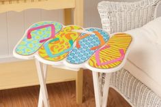 Flip Flops Shaped TV Tray: Furniture & Decor