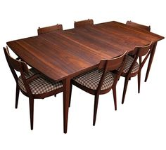 Mid Century Drexel Declaration Dining Set. I hope my set will look this nice once it's refinished.