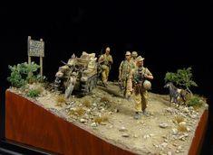 WW2 German Ramcke brigade. DRAGON 1/35 scale. By Lieven Terryn. Kettenkrad #diorama
