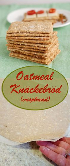 Homemade Oatmeal Knäckebröd (Crispbread) is unbelievably delicious, nutritious and surprisingly easy to make.