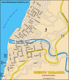 Puerto Vallarta Maps – Maps of Puerto Vallarta Mexico Puerto Vallarta, Ecuador, Mexico Travel, Milwaukee, Old Town, Maps, Cruise, Places To Visit, Tours