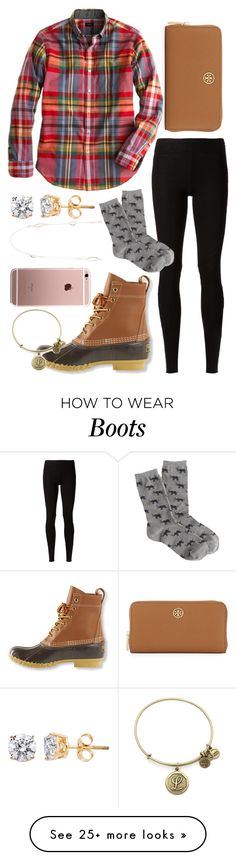 """""""duck boots and diamonds. Read d!"""" by lindsay-mccartney on Polyvore featuring L.L.Bean, Rick Owens Lilies, J.Crew, Tory Burch, Alexis Bittar and Alex and Ani"""