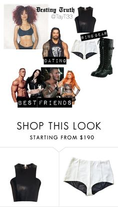 """Destiny Truth my OC"" by tayt33 ❤ liked on Polyvore featuring WWE, CENA and Balmain"