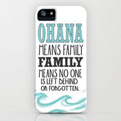 ohana means family.. lilo and stitch disney... iPhone & iPod Case by studiomarshallarts