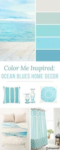Blue ocean tones are the inspiration behind this summer home decor collection. Blue ocean tones are the inspiration behind this summer home decor collection. Decorate your beach house or simply give your living space a warm-weather makeover. Blue Home Decor, Retro Home Decor, Beach House Decor, Coastal Decor, Coastal Style, Beach Houses, Coastal Cottage, Beach Cottages, Coastal Living