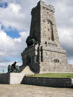 """The Shipka Memorial (Bulgarian: паметник """"Шипка"""") is on Stoletov Peak near the pass, reached by a flight of steps or a short road. It is a memorial to those who died for the Liberation of Bulgaria during the Battles of Shipka Pass in the Russo-Turkish War of 1877-78."""