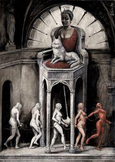 Santiago Caruso #art #drawings& #paintings