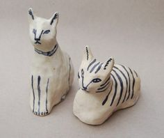 the-heat:  ceramic cat buds by kaye blegvad on Flickr.