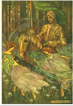 Illustration by Florence Susan Henderson in  Guinevere and Other Poems by Alfred Lord Tennyson, 1912