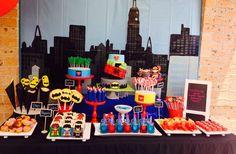Superhero Birthday Party Ideas | Super Dessert Table