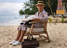 """""""A Caribbean Mystery"""" - the brown leather handbag goes to a balmy destination."""