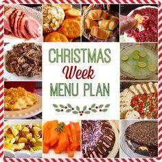 Christmas Week 2015 weekly menu plan meal planning JCIU