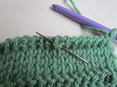 Tunisian Crochet - TKS - (Tunisian Knit Stitch)