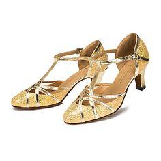 Zapatos de baile (Plata/Oro) - Danza latina - Personalizados - Tacón Luis XV…