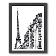 "East Urban Home Paris Framed Graphic Art Size: 16.5""H x 13.5""W x 1.5""D"