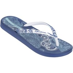 966a095704f863 Ipanema Flip-flops - Anatomica Lovely - Blue white ( 24) ❤ liked