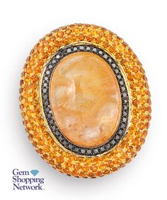 Rutilated Quartz & 7.35 ctw Citrine&diamond 18K White Gold 34.10gr Ring Sz 7.75  If you love being surrounded by exquisite jewelry then this is your dream destination. Gem Shopping Network is the most exquisite viewing experience on TV. Now available on live streaming and on apps.