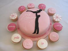 """Dirty Dancing Cake and Cupcakes, made by Angela Barth of jellycakes  Kate Middleton is said to be having a Dirty Dancing-themed bachelorette party, or """"hen party."""" Looking to plan your own Dirty Dancing party? Treats like these would be perfect."""