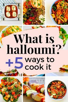 What is halloumi + 5 ways to cook it - Crunch & Cream Baked Halloumi, Cooking Halloumi, Halloumi Salad, How To Cook Haloumi, What Is Halloumi, Crispy Chilli Beef, Greek Cheese, Making Fried Chicken, Best Meal Prep