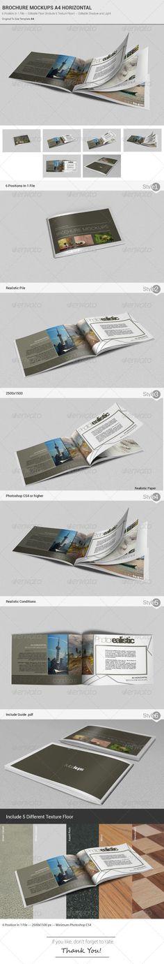 Landscape Brochure \/ Catalog Mock-Up Brochures, Brochure - landscape brochure