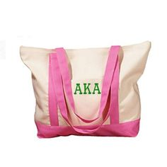 Summer or school ready, this boat tote can do it all.  Fill with beach necessities on the weekends, and notebooks during the week!  Available in your favorite colors, click through to Something Greek to check out this and all of your other sorority merchandise and clothing needs.
