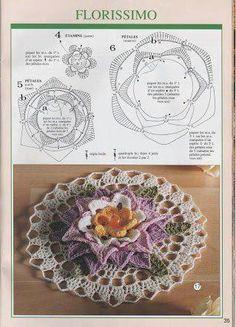 Aline crochê: Graf. Flores