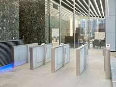 Emporio Tower, Hamburg (GER) Photographer: © Michael Frank Photo Design The quarter EMPORIO consists of office tower and new building of Scandic Hotel. The Charon  and Argus turnstiles are particularly suitable for safe building access to the building. In addition, escape route systems and self-locking anti-panic locks were installed to enable escape route security. #architecture #design #building #ArchitectureDesign #Smartandsecureaccesssolutions #TrustedAccess #dormakaba #Argus