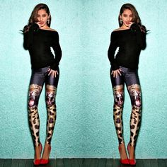 Free Size Black milk leggings New 2015 Fashion Tiger patterned 3d digital printed sport leggings women sexy fitness leggings