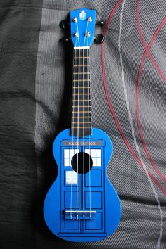 Tardis ukulele; happy 50th Doctor.  ;-)